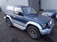 1991 MITSUBISHI SHOGUN PAJERO 2.5 TURBO DIESEL AUTOMATIC SWB BLUE 11 MONTHS M.O.T