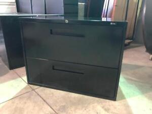 Global 2 Drawer Lateral Filing Cabinet - Black - $150