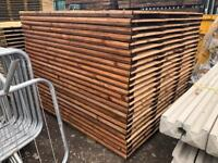 🦔 Straight Top Brown Feather Edge Tanalised Garden Fence Panels 2Ft - 6Ft