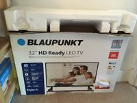 "Blaupunkt 32"" HD ready LED TV hardly used and in original box"