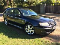 Saab 9-3 2.0T Vector Sportswagen, 2005 (55) Black with Cream Leather, 99300 Miles