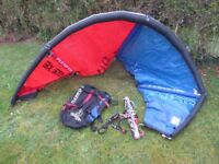 Flexifoil 3.0 m2 Strike Leading Edge Inflatable Kite including bar and lines