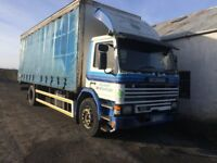 Scania 82 Curtain sider lorry.
