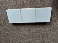 30 white 15cm square ceramic tiles