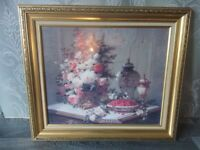 Vintage/Retro Gold Ornate Picture Frame, Painting Still Life