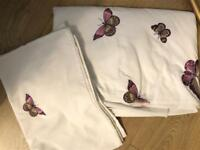 King size butterfly bedding set