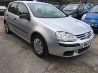 Volkswagen Golf 1.6 FSI S 5dr FREE 1YEAR WARRANTY, NEW MOT, FINANCE AVAILABLE, P/X WELCOME