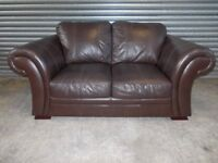 Creations Scroll Arm 2-seater Leather Sofa (Suite)