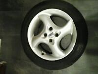"Ford mondeo 16 "" borbet alloy wheel and 205 / 50 × 16 "" tyre"