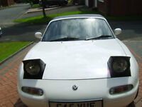 classic mazda mx5 mk1 eunos sport k&n induction system new 15 inch alloys and new tyres white dials