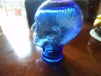 blue glass mannequin head excellent condition collection abergele