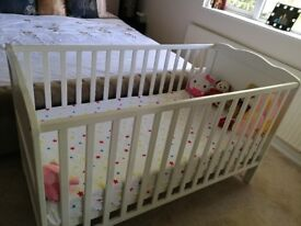 Cot bed and mattress for sale