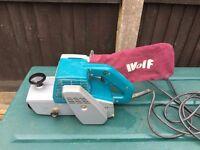 Professional Wolf belt sander 5573 240v 4 inch (100mm) large sander
