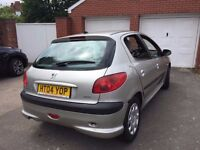 Peugeot 206 12months mot service history cheap on fuel tax tidy cd alloy economical £595
