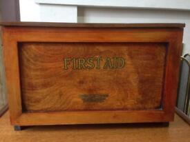 VINTAGE FIRST AID BOX & ORIGINAL CONTENTS