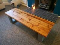 Hand made, solid wood coffee table