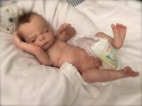 "Beautiful reborn baby boy ' Zak' premature size - 14"" approx 2.5lb"