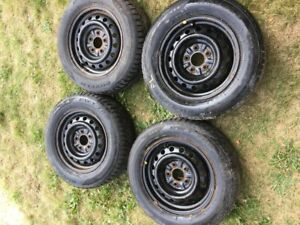 winter tires and rims 205/65/15
