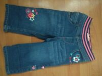 New Blue Zoo Little Girls Jeans Trousers 12-18 months