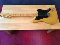 Vintage modified Squier Jazzmaster guitar in butterscotch blonde. Has a maple neck, vgc!