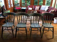 4 kitchen chairs, grey