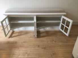 Hall cupboard, shoe cupboard, window seat, ottoman