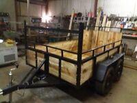 8ftx5ft twin axle trailer