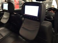 Car dvd headrest with hd screen fitted 12months warranty, games inc , wireless headphones