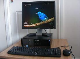"Dell Optiplex 990 Desktop PC 3.1GHz Intel i5 250GB 4GB RAM 17"" Monitor Windows 10"