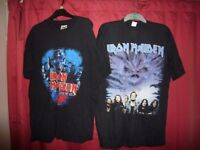 IRON MAIDEN.RARE AND OFFICIAL TOUR T SHIRTS.