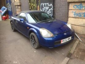 2002 TOYOTA MR2 ROADSTER 1.8 VVTi MANUAL 140 BHP IN BLUE BREAKING FOR PARTS