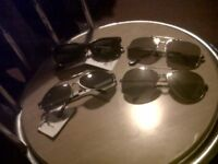 4SALE,4 PAIRS OF SUNGLASSES,3 MENS N 1 FEMALES,ONLY £3 THE LOT