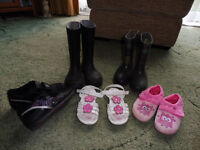 collection of children shoes