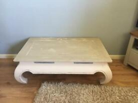 Coffee Table.. Shabby Chic cream & grey