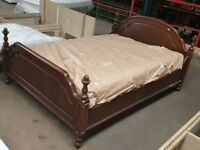 Solid Wood King Size Bed & Mattress