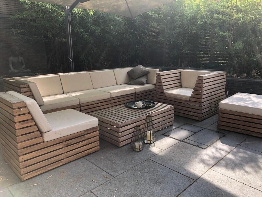 Luxurious Wooden Westminster garden furniture set w ...