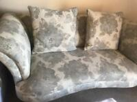 Grey floral sofa dfs