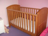 Mothercare cot bed for sale, excellent condition.