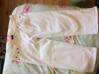 J crew Size 29 White cropped jeans for sale  Surrey