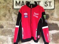 milwaukee yamaha racing fleece jacket large