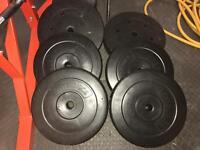 6x 10kg standard weight plates