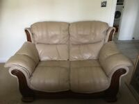 Leather Sofa x 2.... 3 Seater and a 2 Seater.