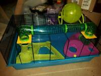 LARGE HAMSTER/RAT CAGE WITH ACCESORIES
