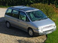 PEUGEOT 806 TURBO DIESEL 7 SEATER SILVER 193K TWO KEYS MOT to JUNE 17 NEW CAM BELT MAY 14