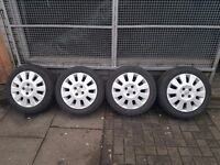 "15"" Inch Vauxhall alloy wheels with tyres"