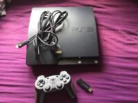 PS3 with leads and games