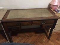 solid wood vintage desk