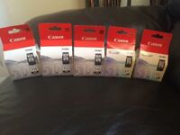 5 Canon 510 printer cartridges