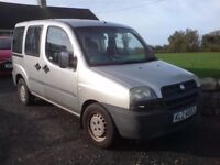 FIAT DOBLO WHEEL CHAIR ACCESS VEHICLE ONLY 44 THOUSAND MILES, 1.3 PETROL £995