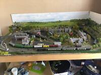 N Gauge Model Railway Layout + Trains and Carriages